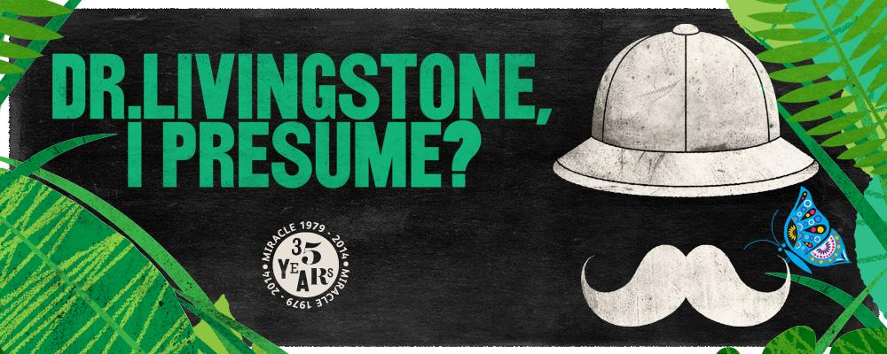Tour poster for Dr Livingstone, I Presume